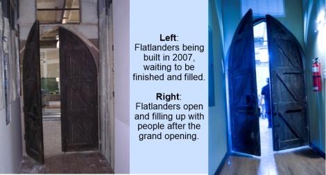 Flats opening doors